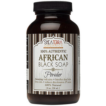 Shea Terra Organics Authentic African Black Soap Powder 8 oz