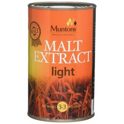 Muntons Malt Extract, Liquid, Unhopped Light, 3.3 Pound Cans (Pack of 2)