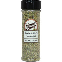 Vanns Garlic & Herb Seasoning-1 oz Seasoning