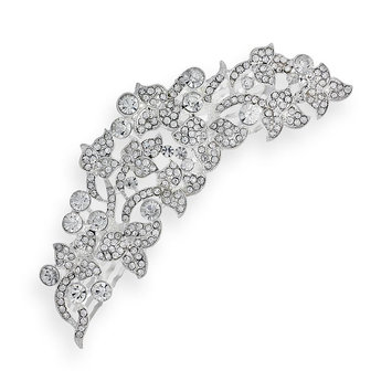Crystal Allure Barrette (White)