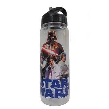 Silver Buffalo Star Wars Main Cast 20 oz. Tritan Water Bottle
