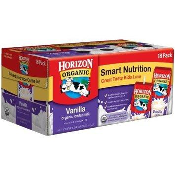 Horizon Organic Low Fat Milk, Vanilla, 8-Ounce Aseptic Cartons (Pack of 18)