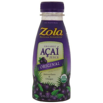 Zola Brazilian Superfruits Acai Original Juice, 12-Ounce Bottles (Pack of 12)