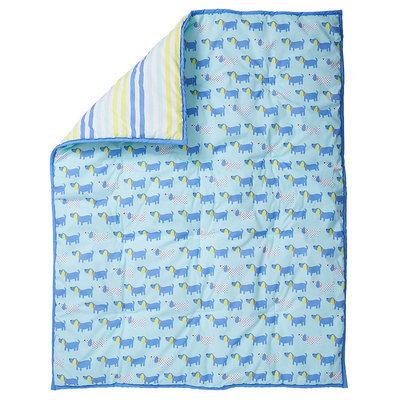 Sumersault Ltd Sumersault Puppy Collection Crib Comforter - Blue/Green