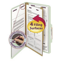 Smead Four-Section Pressboard Classification Legal Folders-