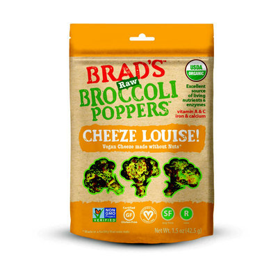 Brad's Raw Broccoli Poppers Cheeze Louise