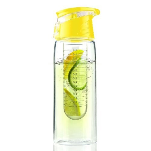 AdNArt Asobu Flavor It Infuser Water Bottle Pure Fruit Flavour 2 Go, Yellow [Yellow, 1]