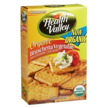 Health Valley Organic Bruschetta Vegetable, Multigrain Crackers, 6 Ounce Boxes (Pack of 6)