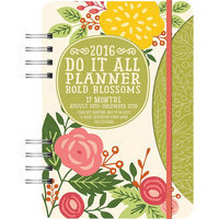 Bold Blossoms Do It All 2016 Softcover Weekly Planner