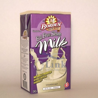 Borden Shelf Stable Fat Free Skim White Milk 32oz. - 6 Unit Pack
