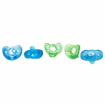 The First Years GumDrop Pacifier, 5 Pack, Blue/Green, 1 ea