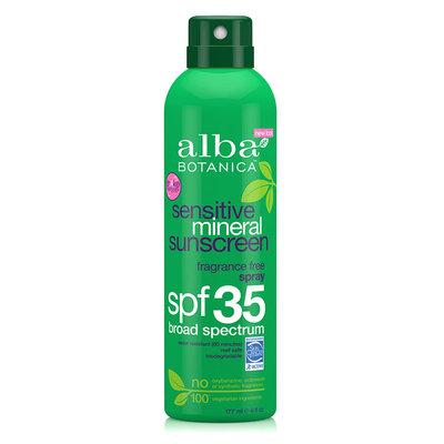 Alba Botanica Sensitive Mineral Sunscreen Fragrance Free Spray