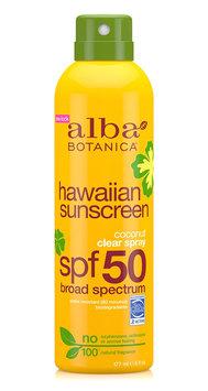 Alba Botanica Hawaiian Sunscreen Coconut Clear Spray