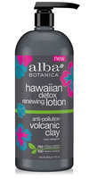 Alba Botanica Hawaiian Detox Renewing Lotion Anti-pollution Volcanic Clay