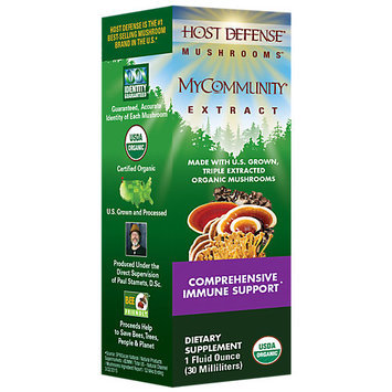 Host Defense Organic Mushrooms Fungi Perfecti Host Defense My Community Extract 1 fl oz
