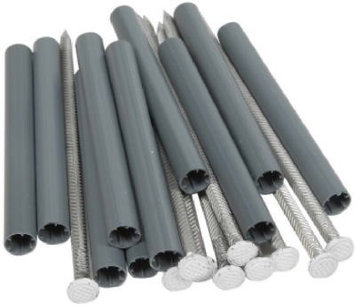 Amerimax Galvanized Spikes and Ferrules - 10 Pack 19044