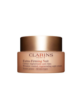 Clarins Extra-Firming Wrinkle Control, Regenerating Night Cream – All Skin Types