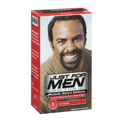 Just for Men Mustache Beard and Sidburns Brush In Color Gel