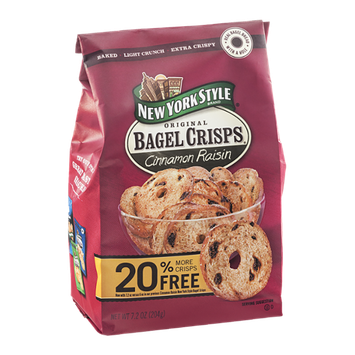New York Style Original Bagel Crisps Cinnamon Raisin