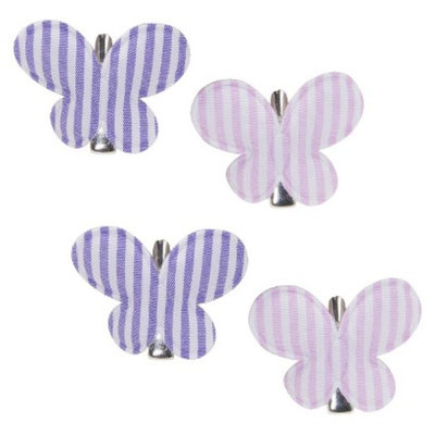 Remington Butterfly Hair Clips - Striped
