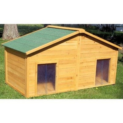 Premium Pet Products Systems Simply Cedar Duplex Dog House, X-Large