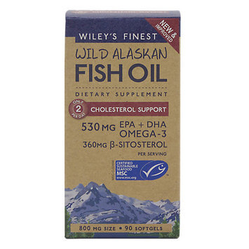 Wild Alaska Fish Cholesterol Support 800 mg Wileys Finest 90 Softgel