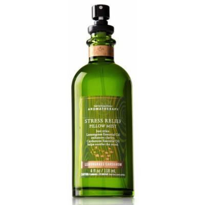 Bath & Body Works Aromatherapy Lemongrass Cardamom Stress Relief Pillow Mist 4 fl oz (118 ml)