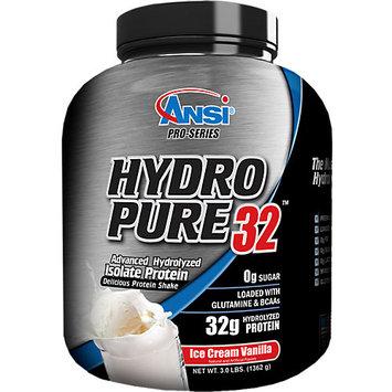 ANSI Advanced Nutrient Science - Hydro Pure 32 Whey Protein Isolate Powder Ice Cream Vanilla - 3 lbs.