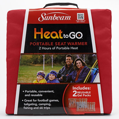 Sunbeam Heat to Go Portable Seat Warmer (Red)