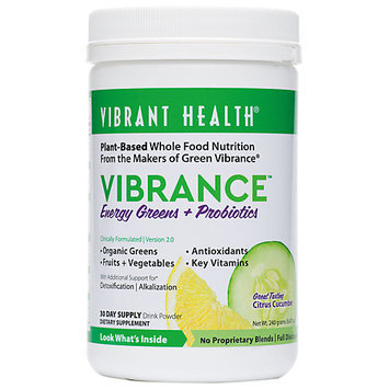 Vibrant Health Vibrance Essential Daily Green Food Citrus Cucumber 9.21 oz