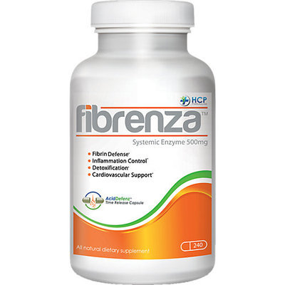 HCP Formulas Fibrenza Systemic Enzyme - 500 mg - 240 Capsules