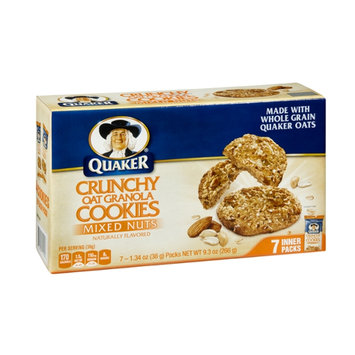 Quaker Crunchy Oat Granola Mixed Nuts Cookies  - 7 CT