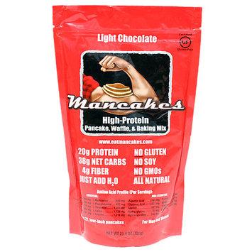 Mancakes Protein Pancake and Waffle Mix (25.4oz Bag) - Light Chocolate