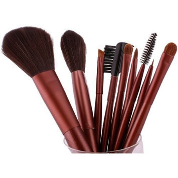 FASH Limited FASH Professional nylon makeup Brush Set with Leather Pouch, 9-Piece,For Eye Shadow, Blush, Eyeliner, eyebrow....