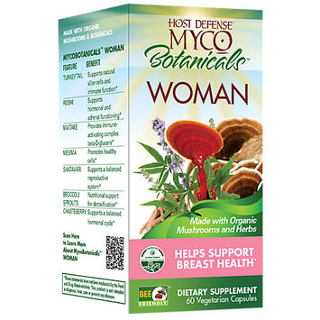 Host Defense Organic Mushrooms Fungi Perfecti - Host Defense MycoBotanicals Woman - 60 Vegetarian Capsules