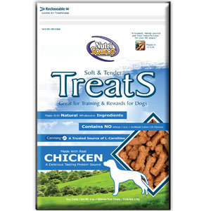 Nutri Source Soft/Tender Dog Treat - Flavor: Chicken