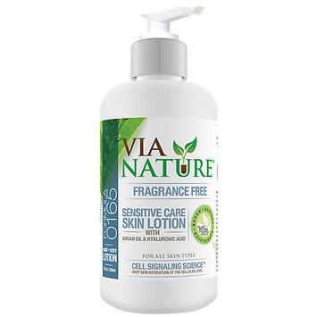 Via Nature - Skin Lotion Sensitive Care with Argan Oil & Hyaluronic Acid Fragrance Free - 8 oz.
