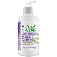 Via Nature - Skin Lotion Soothing with Antioxidant Omega Essential Complex Lavender Eucalyptus - 8 oz.
