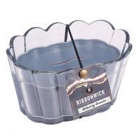 WoodWick® Ribbonwick® Scalloped Glass Flickering Fireside Candle