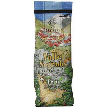 Cafe Britt Peru Valle Sagrado Whole Bean, 8.8 Ounce