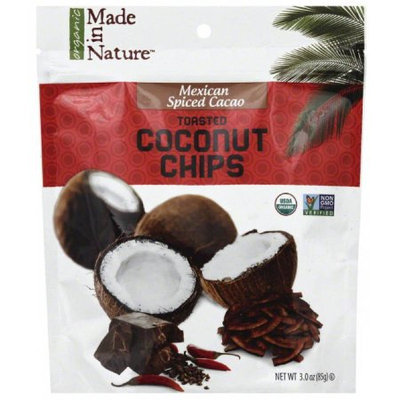 Made in Nature Mexican Spiced Cacao Toasted Coconut Chips, 3 oz, (Pack of 6)
