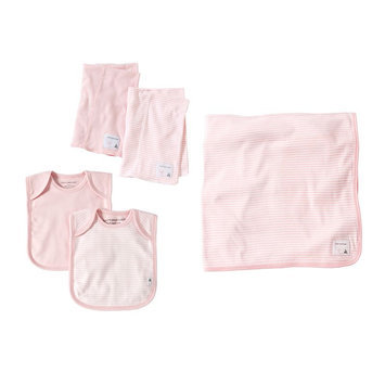 Burt's Bees Baby On the Go Organic Bib, Burp & Blanket Set (Blossom)