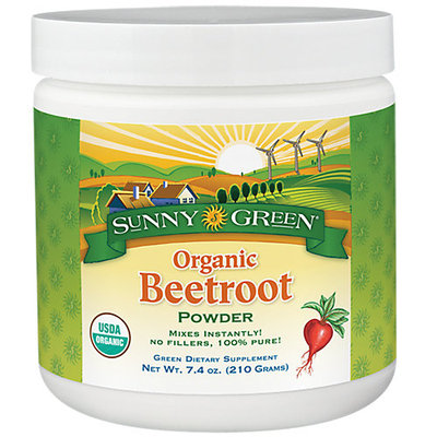 Beetroot Powder Organic -Unflavored Sunny Green 7.4 oz Powder