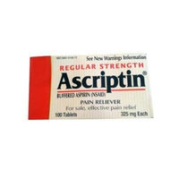 Ascriptin Regular Strength Pain Reliever Tablets, 100 Count