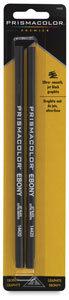 Prismacolor Ebony Graphite Drawing Pencil - Jet Black Lead - 2 / Pack