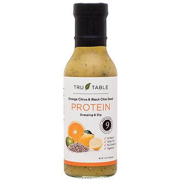 Tru Table Protein Dressing & Dip Orange Citrus & Black Chia Seed 12 oz