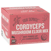 Four Sigma Foods Superfood Mushroom Drink Mix Cordyceps 20 Packets - Vegan