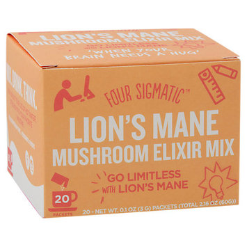 Four Sigma Foods Superfood Mushroom Drink Mix Lion's Mane 20 Packets - Vegan