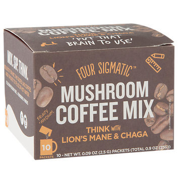 Four Sigma Foods Lions Mane Mushroom Coffee With Chaga Drink Mix