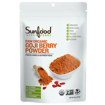 SunFood Raw Organic Goji Berry Powder 8 oz